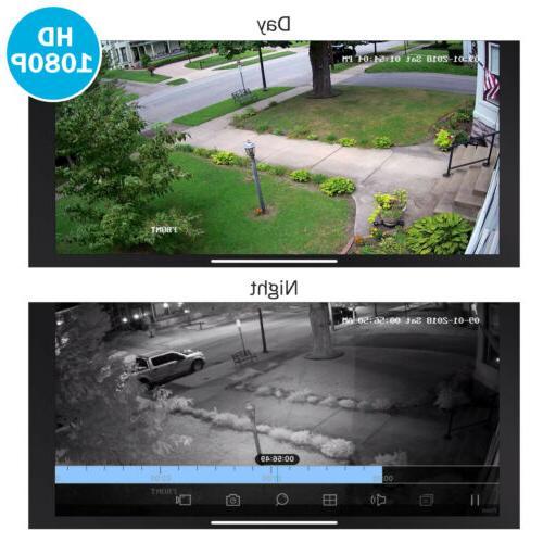 ANNKE HD 1080P Cameras Indoor/Outdoor IR Surveillance System Kit