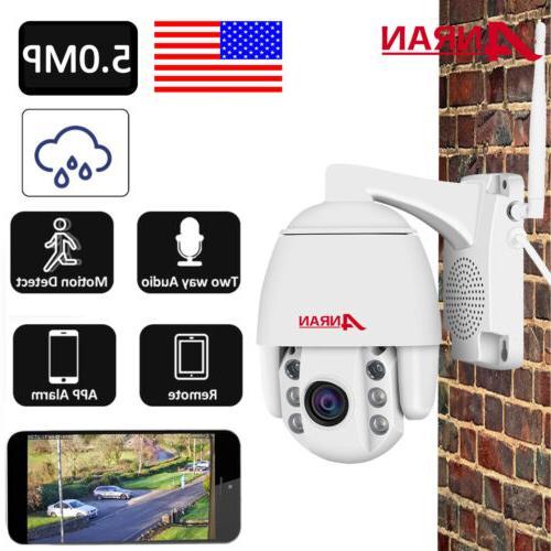 ANRAN Home Security Camera System 5MP Pan/Tilt Wireless 2Way