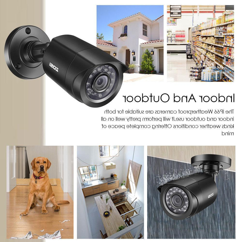 ZOSI 8CH 1080P DVR 720P Outdoor Security Camera System 2TB