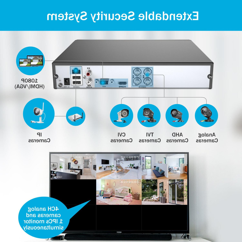 ANNKE HDMI HD-TVI 4CH DVR Outdoor Security IR System