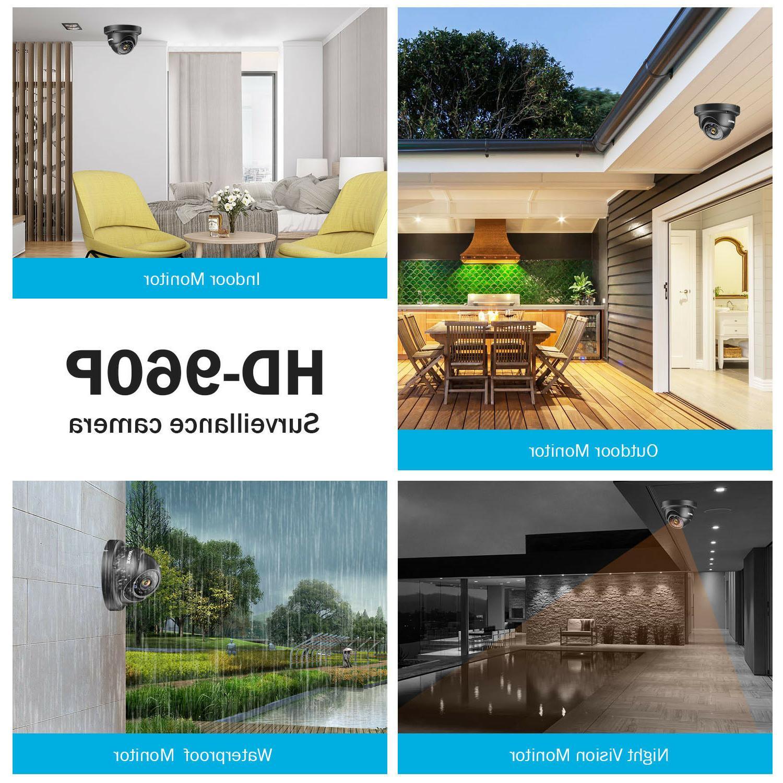 4CH DVR Outdoor Home Security IR System