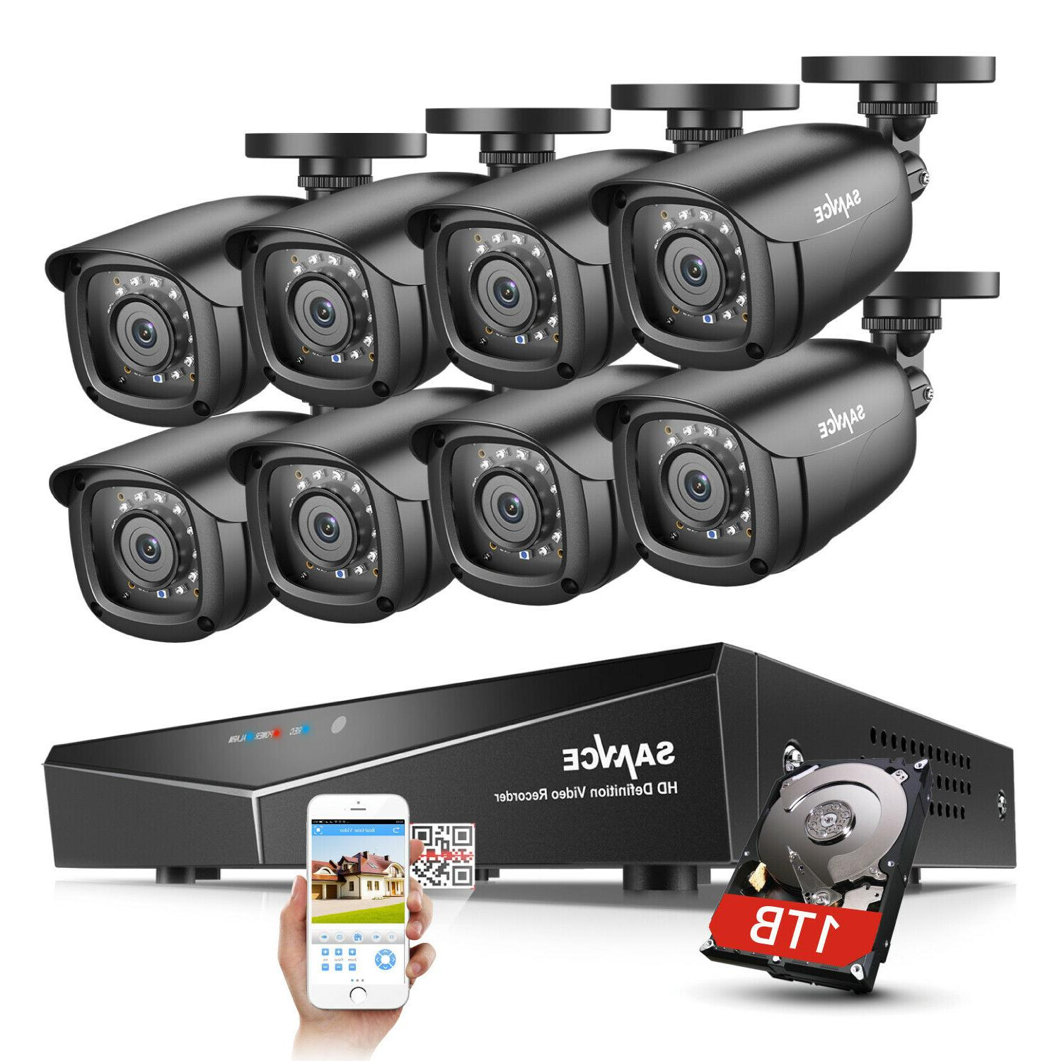 Sikker Standalone 4CH CHANNEL Full 720P 960H DVR Security Camera System HDMI 2TB