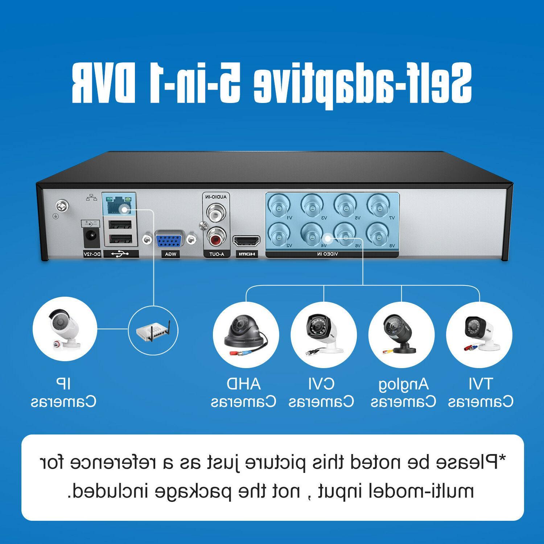 SANNCE 1080P 8CH DVR IR CUT CCTV Camera System 1TB US