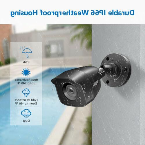 SANNCE Camera DVR 2MP CCTV IR Vision