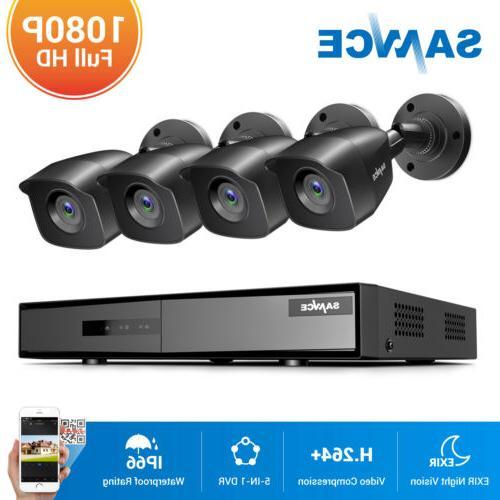 SANNCE Camera Kit 4CH DVR HD IR Night Vision