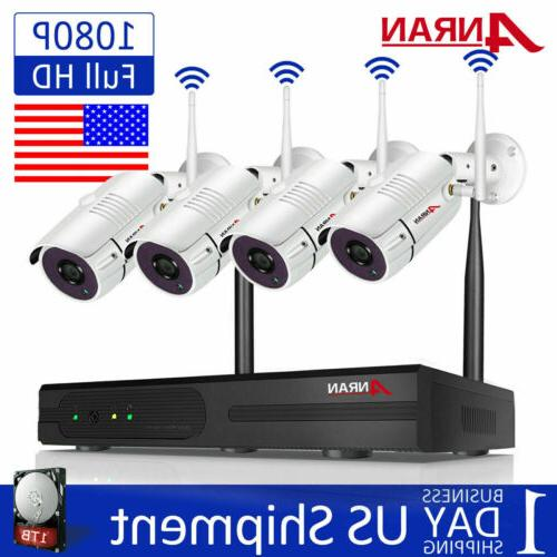 wireless security wifi camera system 1080p 8ch