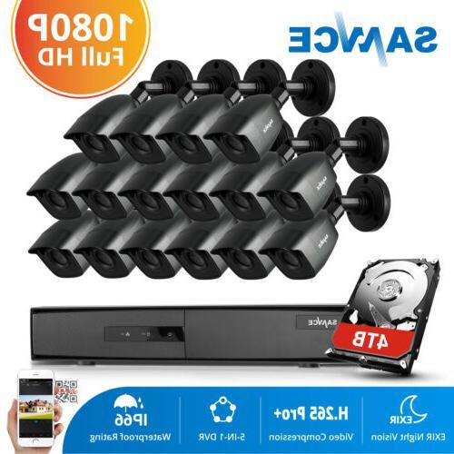 SANNCE 8CH 1080P HDMI DVR 1500TVL 720P IR Dome Security Camera System NO-4TB HDD