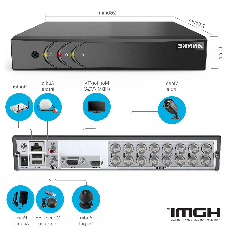 ANNKE Lite H.264+ CCTV Security Camera System