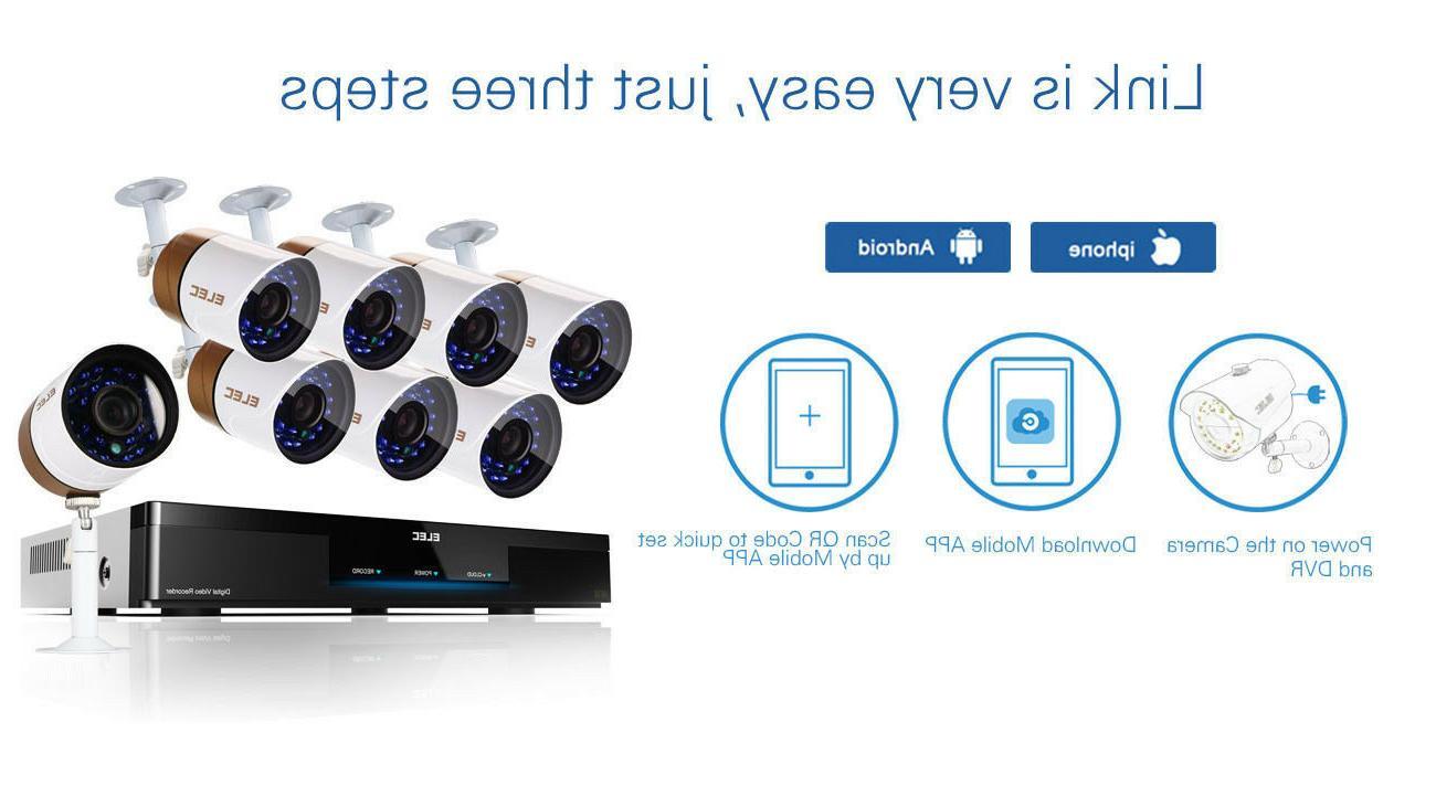 ELEC 1500TVL HDMI 960H 8* CCTV Home