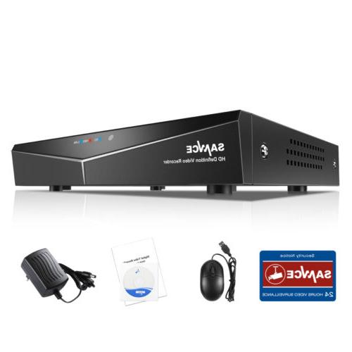 SANNCE H.264 16CH 5in1 1080P HDMI DVR Video Recorder Security System Email Alert