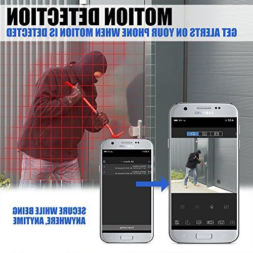 Best Vision 16CH 4-in-1 HD DVR System , 8pcs 1080P High with Vision DIY Kit, App for Smartphone