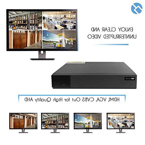HD DVR Security System , 8pcs with Vision DIY Kit, App for Smartphone Monitoring