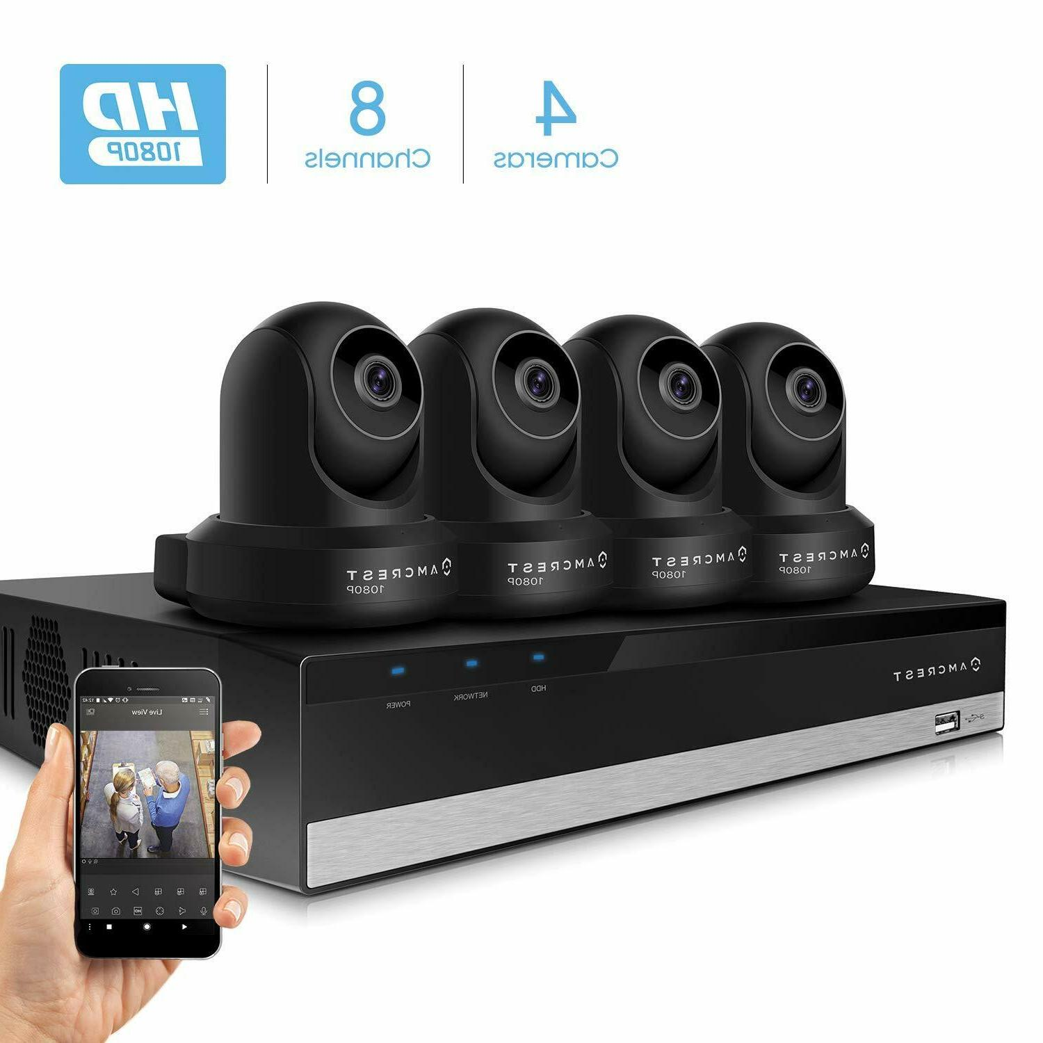 2mp security camera system 4k 8ch nvr