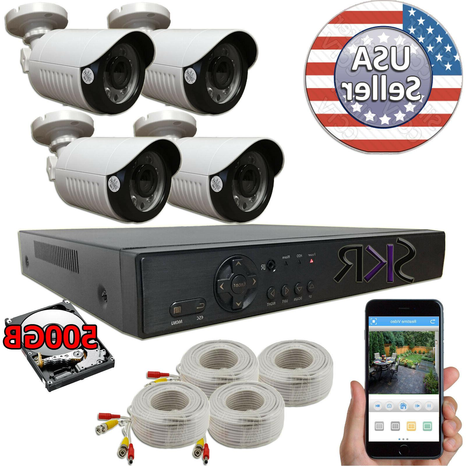 4 ch channel dvr 1080p home security