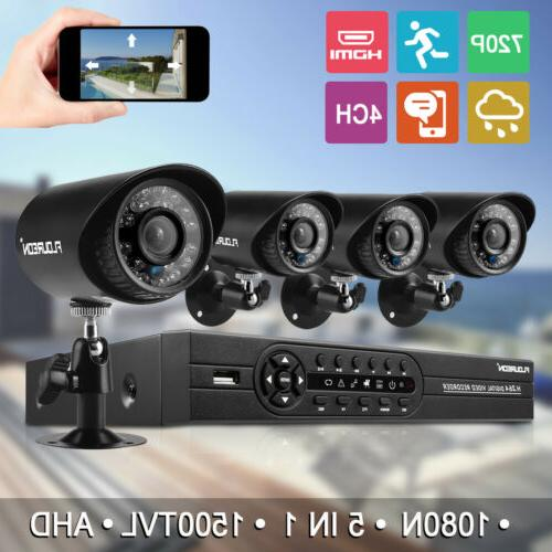 8 Channel 1080N CCTV AHD DVR 1500TVL Home Video Recorder Sec