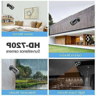SANNCE 4CH CCTV DVR Outdoor Security Camera System