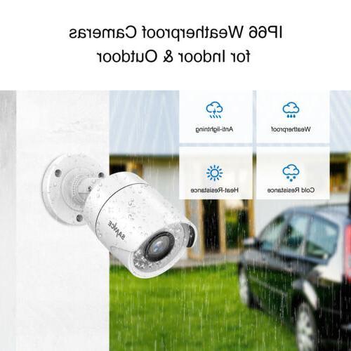 SANNCE DVR 1500TVL IR White Security Camera System NO HDD 1T