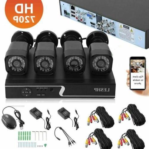 4CH Security Camera System CCTV Video Surveillance 1080P NVR