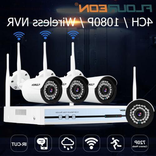 4CH 1080P Wifi Wireless NVR Surveillance Video Record Securi