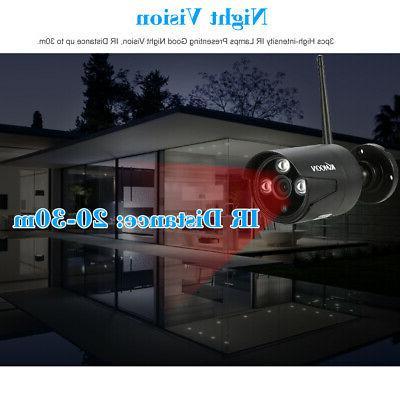 KKmoon 4CH NVR 720P WIFI Camera Vision