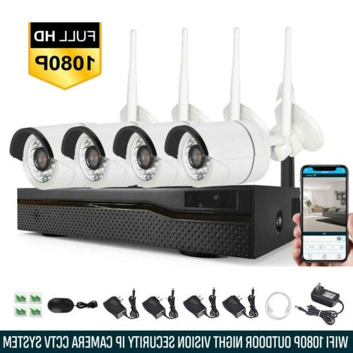 Xtech 4CH Wireless 1080P NVR Outdoor indoor WIFI Camera CCTV
