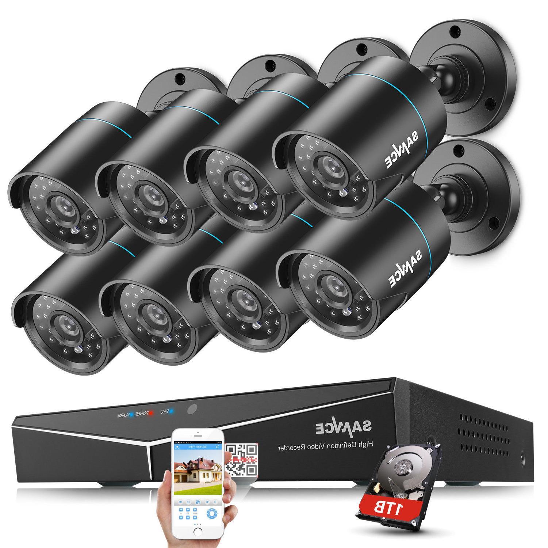SANNCE 4CH 1080P DVR CCTV Night