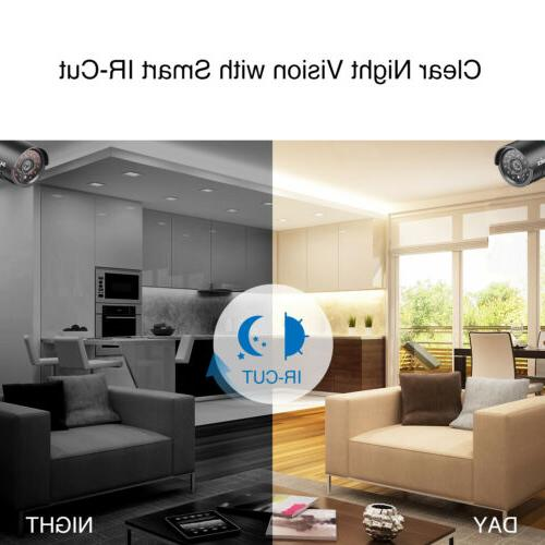SANNCE 1080P DVR 1500TVL CCTV Night