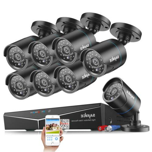 SANNCE / 8CH 1080P DVR CCTV Night Vision