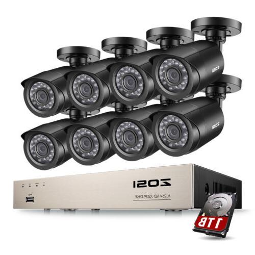 ZOSI 4CH 8CH 1080P HDMI DVR 720P Outdoor Surveillance Securi