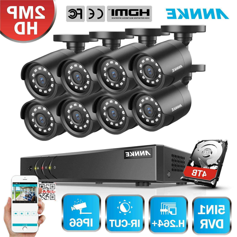 8CH 5IN1 1080N Lite H.264+ DVR CCTV Smart Home Camera Securi