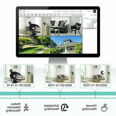 Lite 1080P Outdoor CCTV Home Security Camera System