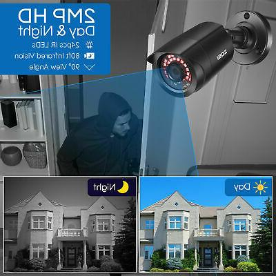 ZOSI 8CH 5MP DVR 1080P CCTV Security System Night Vision