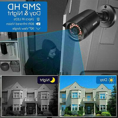 ZOSI 8CH Lite Outdoor CCTV Home Camera System Kit