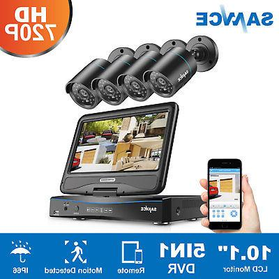 SANNCE 1080N 10.1'' Monitor Outdoor Camera System