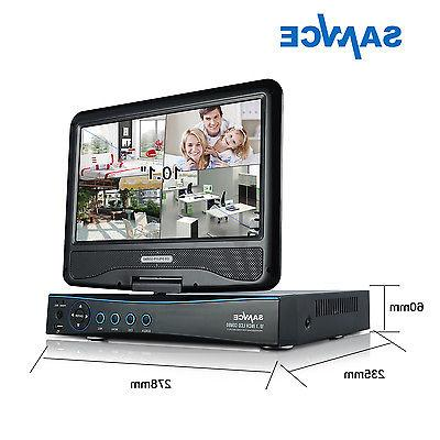 SANNCE 4CH 1080N DVR 10.1'' Monitor 1080P Outdoor IR Security System