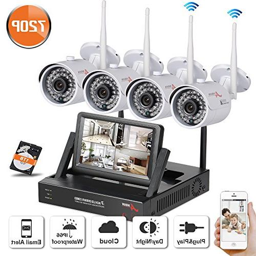 4ch monitor wireless security system