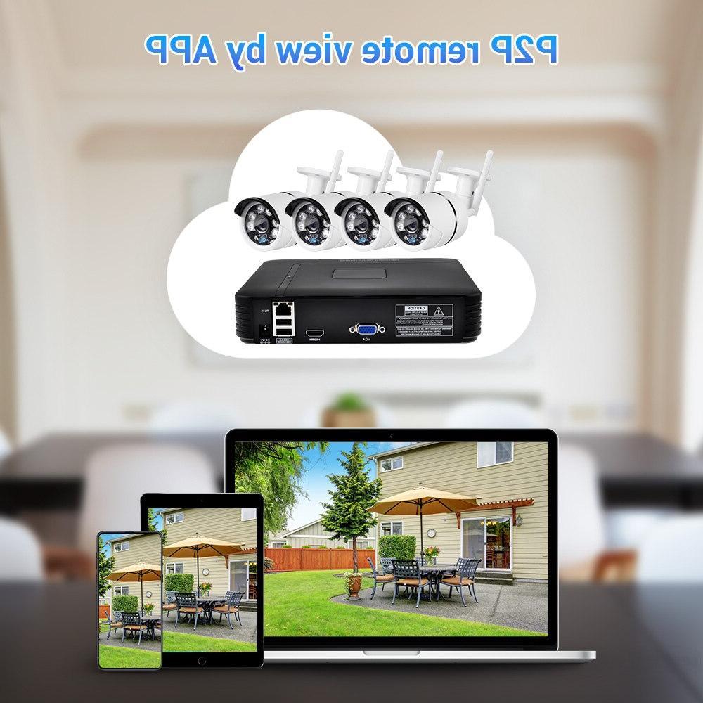FUERS Video Surveillance <font><b>Security</b></font> <font><b>System</b></font> 720P Camera <font><b>System</b></font>