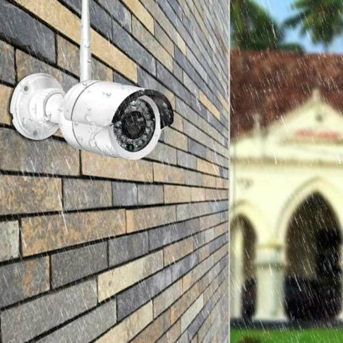4CH 1080P Indoor Outdoor WIFI CCTV Security System 12V