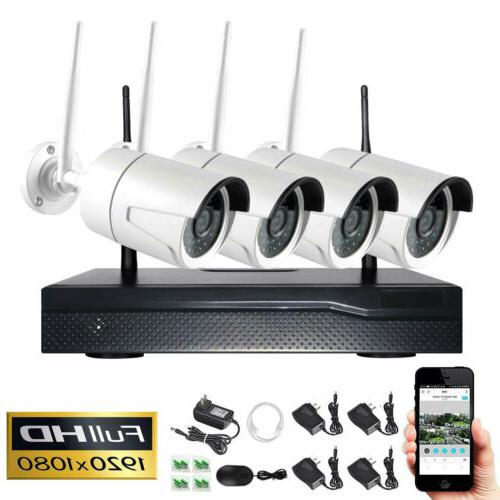 4ch wireless 1080p nvr indoor outdoor wifi