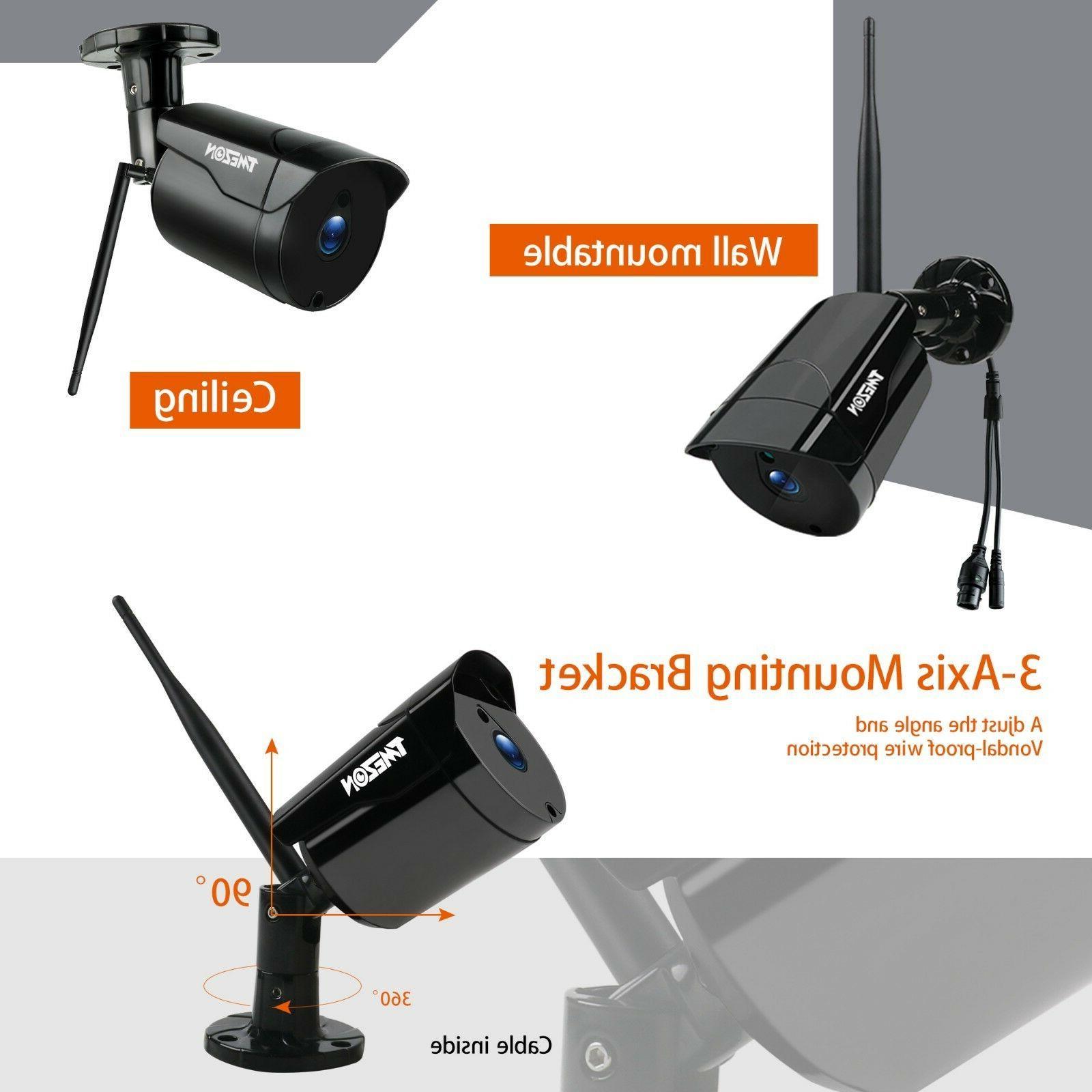 TMEZON Wireless 1080P NVR WiFi CCTV Camera Outdoor Security Kit