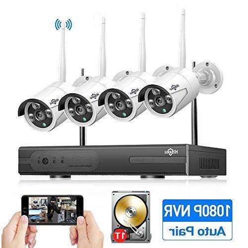 4ch wireless security system night