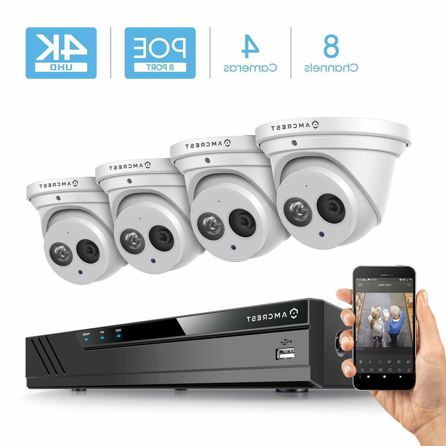 4k 8ch security ip camera system poe