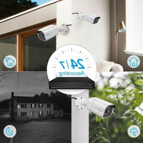 4K 8MP POE Camera IP 8CH Kit Recording RLK8-800B4