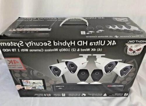 Night Owl 4K Ultra HD Hybrid Security System C-H441P8-W2I2M