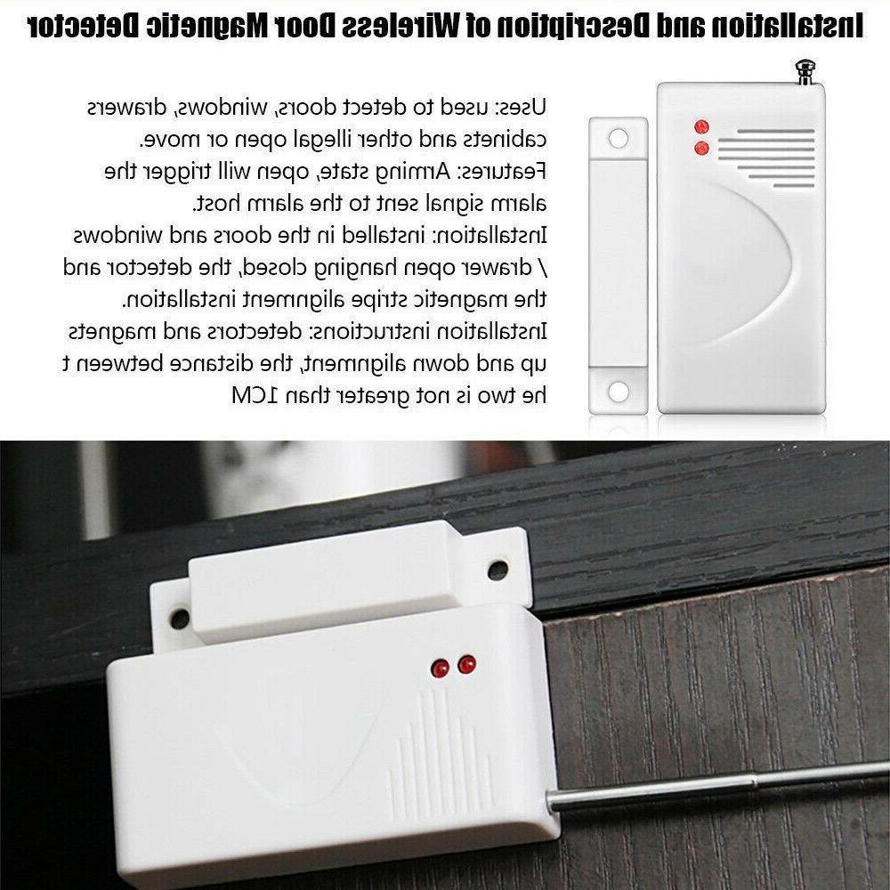 4X Security Alarm System Door Sensor