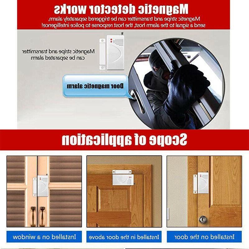 4X 433Mhz System Window Door Sensor U