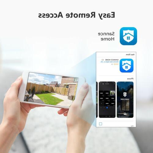 SANNCE 8CH 1080P DVR Home 3000TVL Security System Alert