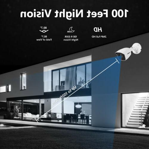 SANNCE H.264+ 4CH DVR Outdoor HD CCTV Security System Onvif
