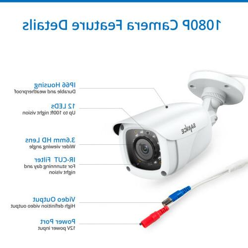 SANNCE H.264+ DVR Video CCTV System