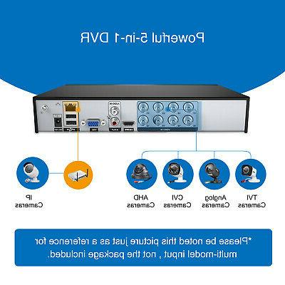 SANNCE 8-Channel 1080N TVI Security System